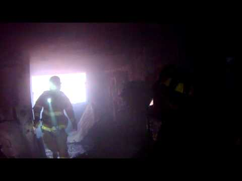 LSFD Helmet Camera Video from apartment fire in Stratford -  January 20th, 2014