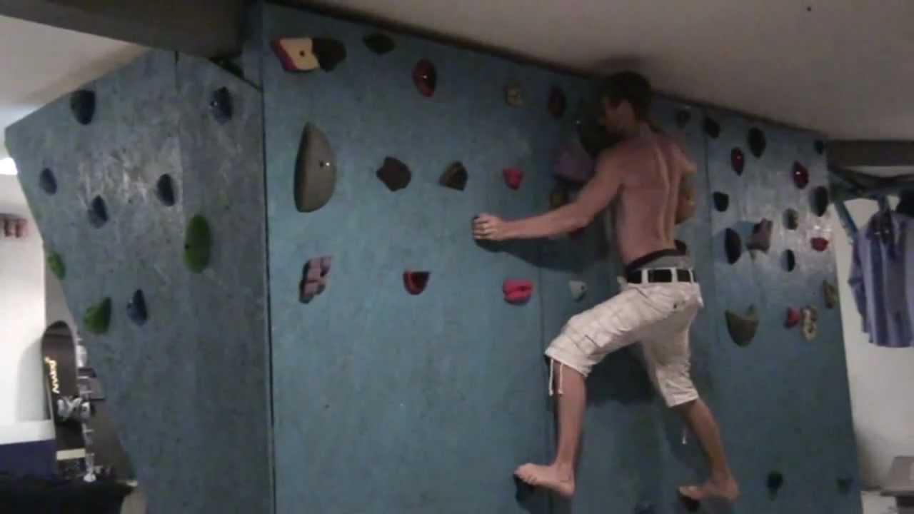 Home Basement Bouldering Rock Climbing Wall Hangboard