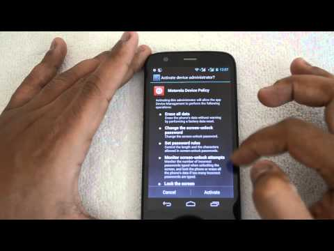 Phone Security App on Motorola Moto G