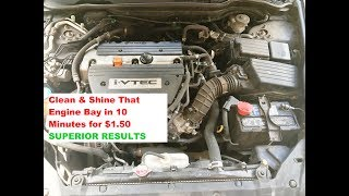 How TO CLEAN & SHINE an Engine Bay in 10 Minutes & $1.50