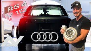 FIRST START!!! Audi b7 rs4 avant v10 TURBO!!