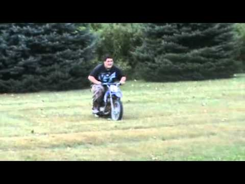 Dirt Bikes For Big Guys Fat Kid Wrecks Dirt Bike