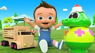 Little Baby Fun Learn Shapes & Colors for Children with Crocodile Shapes ToySet 3D Kids Educational