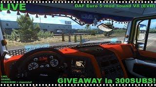 LIVE | Euro Truck Simulator 2 | ProMods | DAF Euro 5 mod sound V8 (EVR) / The Best Sound!