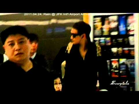 [Rain (Bi) Fancam]110424 Rain @ JFK Int'l Airport Arrival in New York