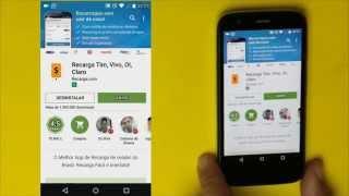 Como botar crédito Grátis no celular  com app Recarga com