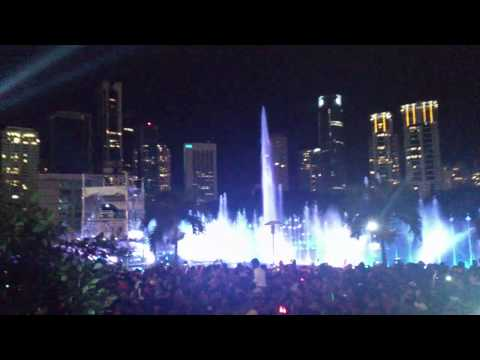 Fireworks and countdown for NEW YEAR 2013 KLCC Malaysia
