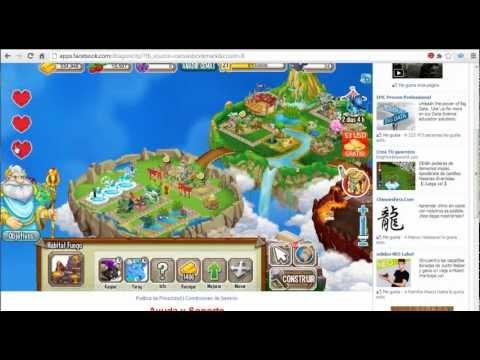 Combinaciones De Dragon city Dragones:Chicle, Futbolista , Legendario de agua .