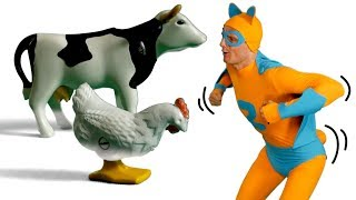 Pig Cow and Chicken Farm Animal Sounds | Kids Fun & Learn