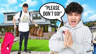 I'm MOVING OUT PRANK on LITTLE BROTHER *HE CRIED*