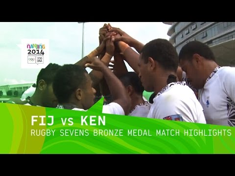 Men's Rugby Sevens Bronze Medal Match - Highlights | Nanjing 2014 Youth Olympic Games
