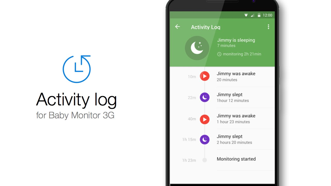 Baby Monitor 3G - Activity log for Android - YouTube