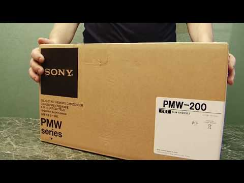 Sony PMW-200 Unboxing in Russia