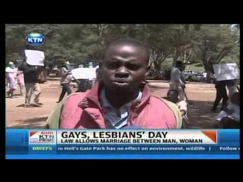 Gays And Lesbians Demand Government Recognition video