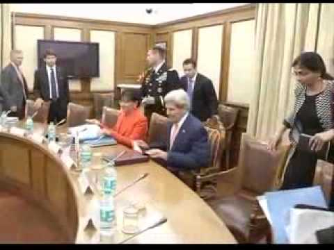 US Secretary of State John Kerry meets Union Minister Arun Jaitley