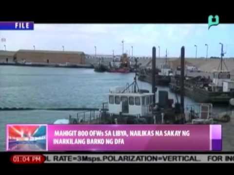 [News@1] Mahigit 800 OFWs sa Libya, nailikas na sakay ng inarkilang barko ng DFA [08|16|14]