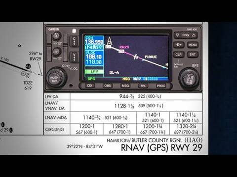 Garmin 430W LPV Approach -- WAAS Training Program from Sporty's Pilot Shop