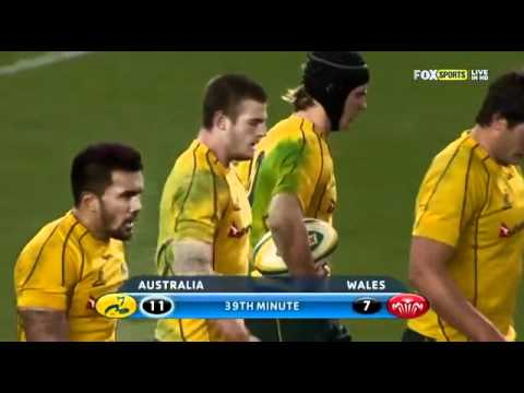 Rob Horne Try v Wales - 2012 Test 2