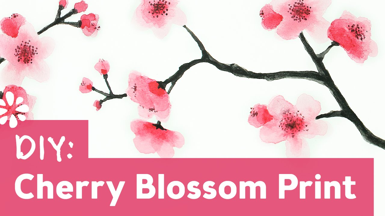 How To Paint Cherry Blossoms Youtube