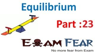 Chemistry Equilibrium part 23 (Examples: Effect of equilibrium) CBSE class 11 XI