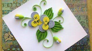 Quilling Paper Flower Tutorial  D.I.Y. Quilling Paper Pansy Flower Tutorial