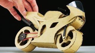 DIY Motorcycle Cardboard Model