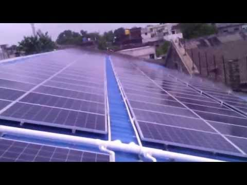 Automatic Cleaning System for Solar Power plant by SOLAR INERTIA