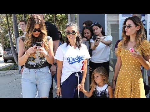 Khloe And Kourtney Take The Children Out For Cake And Shopping