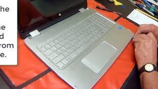 HP Envy Laptop Repair Keyboard AssemblyBottom Access
