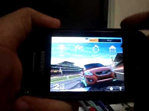 Real Racing 2 no Samsung Galaxy y GTS5360B