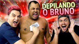 TIRAMOS OS PELOS DO BRUNO!! DESAFIO 3 MILHÕES!!