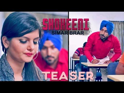 Simar Brar - Shokeeni | Teaser video