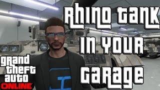 """GTA 5 Online FREE RHINO TANK in Your GARAGE! """"GTA Online"""""""