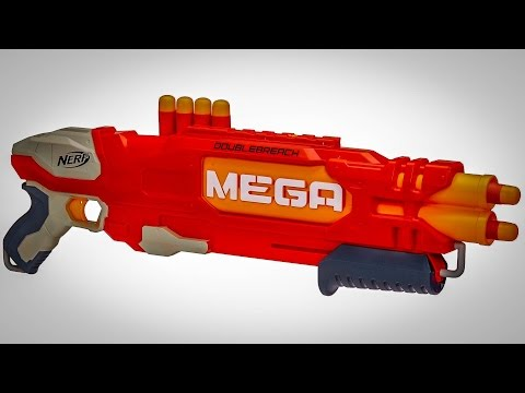 NERF N-STRIKE MEGA DOUBLE BREACH (Unboxing + Review)