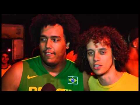 David Luiz e Dante na Tv Esporte Osasco