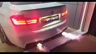 BMW  328i  Stage 2 + flammes