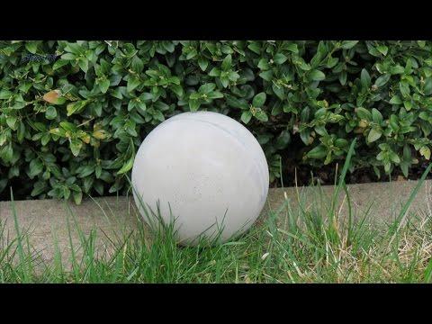 Dekoration für Garten . Betonkugel ca. 120 mm selber machen .