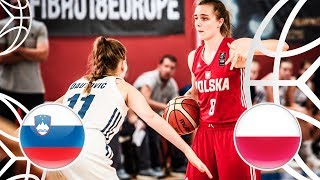 Slovenia v Poland - Class Game 9-16 - Full Game - FIBA U18 Women's European Championship 2018  from FIBA