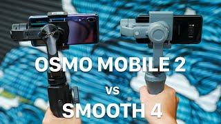 So sánh nhanh DJI Osmo Mobile 2 và Zhiyun Smooth 4