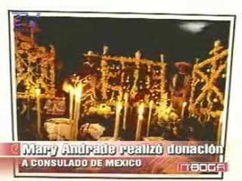 Mary Andrade realizó donación a Consulado de México