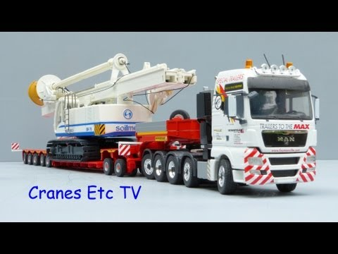 Cranes Etc TV:  Conrad MAN TGX + Faymonville Variomax Trailer Review