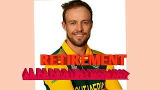 FULL BIOGRAPHY OF AB DE DEVILLIERS.... EVERY EVENTS OF HIS LIFE AND HIS 3 FORMATS RETIREMENT.