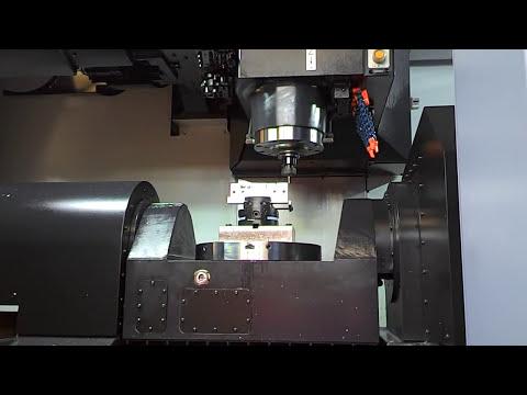 Doosan DNM 350/5AX esempio di lavorazione  5 assi posizionati