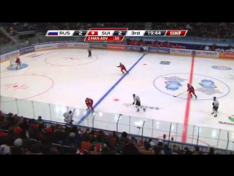 RUS/SUI Россия-Швейцария 4-3(SO) 2013 IIHF Ice Hockey U20 World Championship 02.01.13