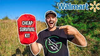 Testing CHEAP WALMART SURVIVAL KIT!!! (Surprising Result!)