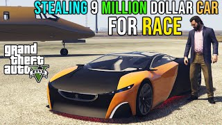 STEALING 9M DOLLAR SPORTS CAR FOR RACE | GTA V GAMEPLAY #31