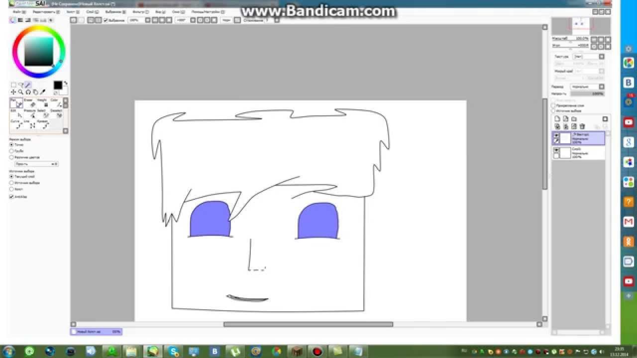 Как рисовать красивые арты в paint tool sai