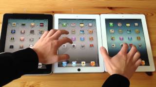 iPad 1 VS. iPad 2 VS iPad 3 Speed Test!