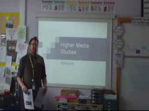 Introduction to Higher Media Studies at Dunblane High School