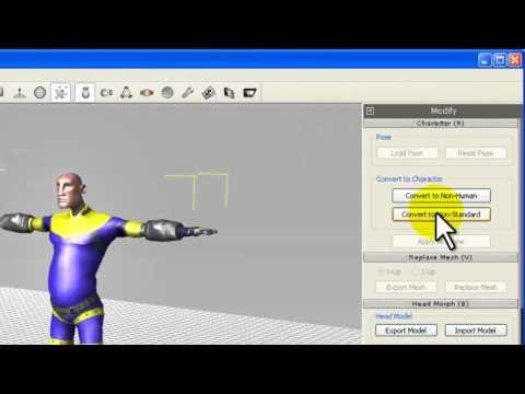 3DXchange5 Tutorial – Importing Maya Characters to iClone
